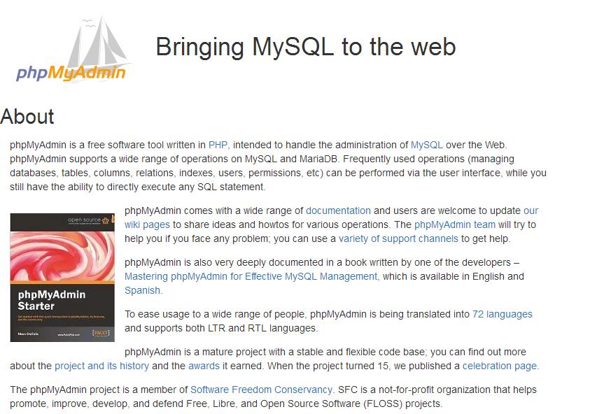 MySQL数据库管理工具-phpMyAdmin-第1张图片-元元本本博客