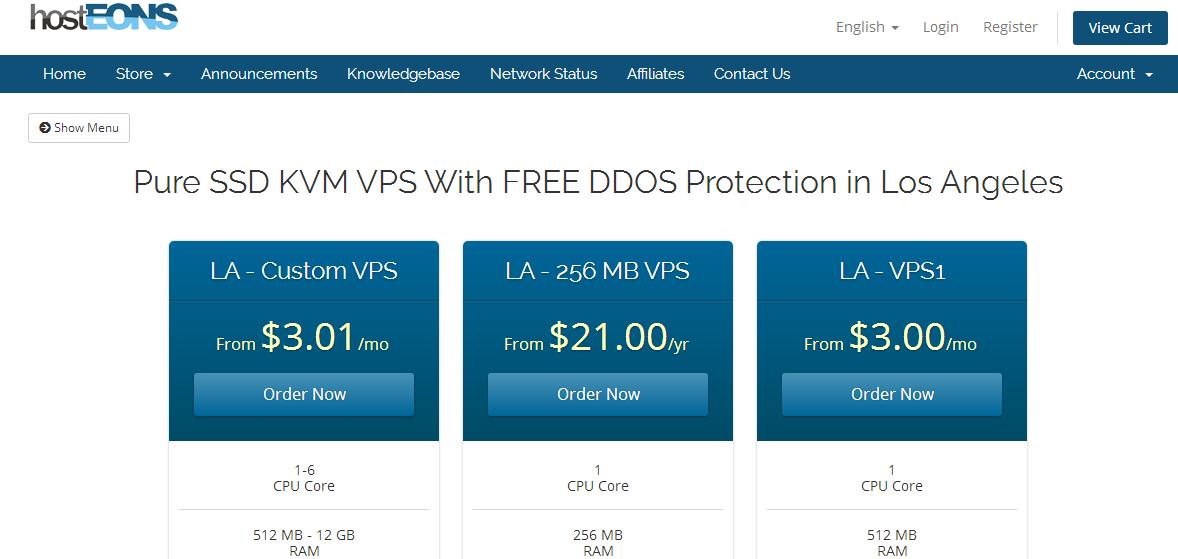 hosteons:上新产品资源池,不限流量,允许用户在后台划分多个VPS,7折优惠码送上  特价服务器 第1张