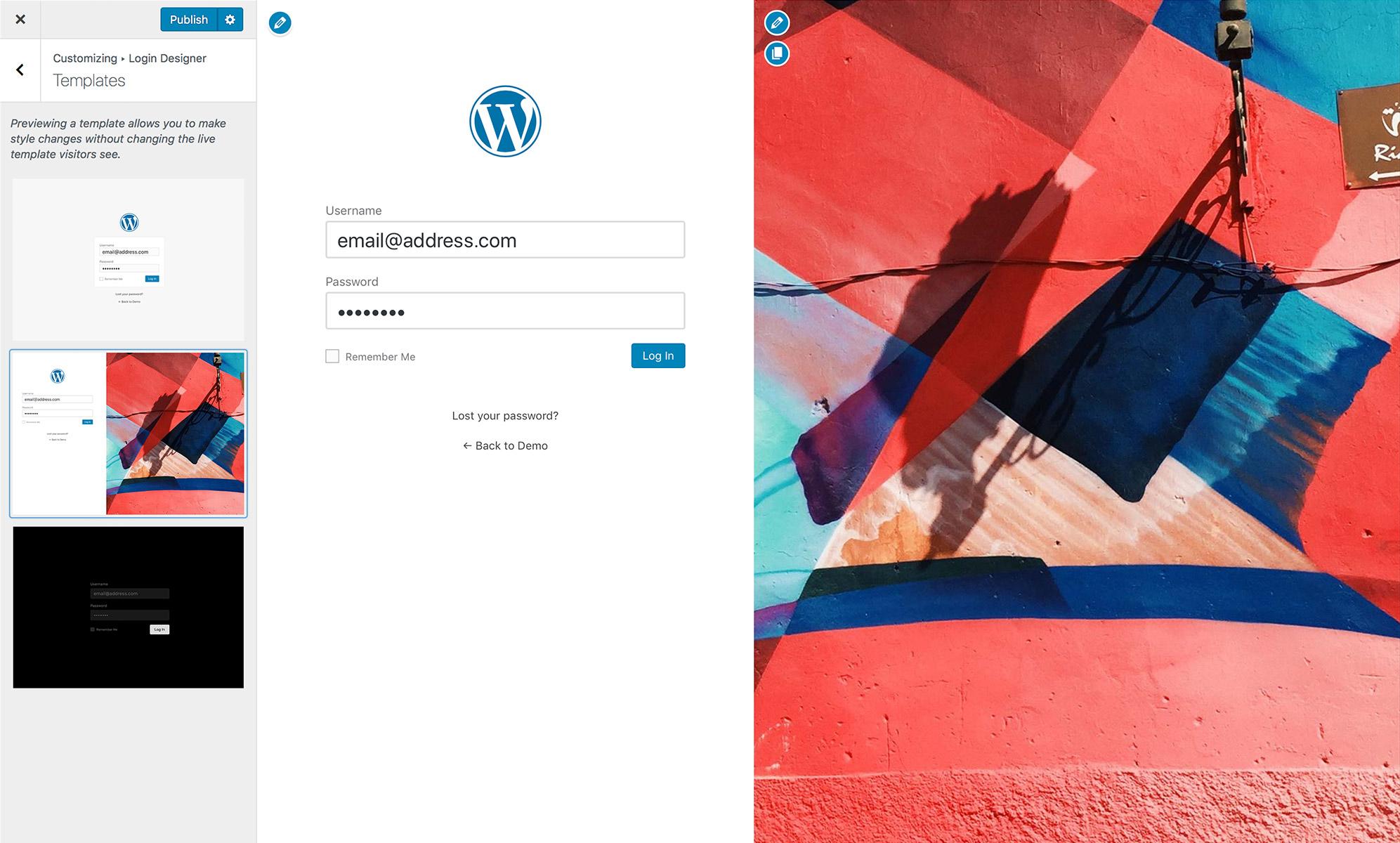 可视化WordPress后台登录界面美化插件Login Designer WordPress 第2张